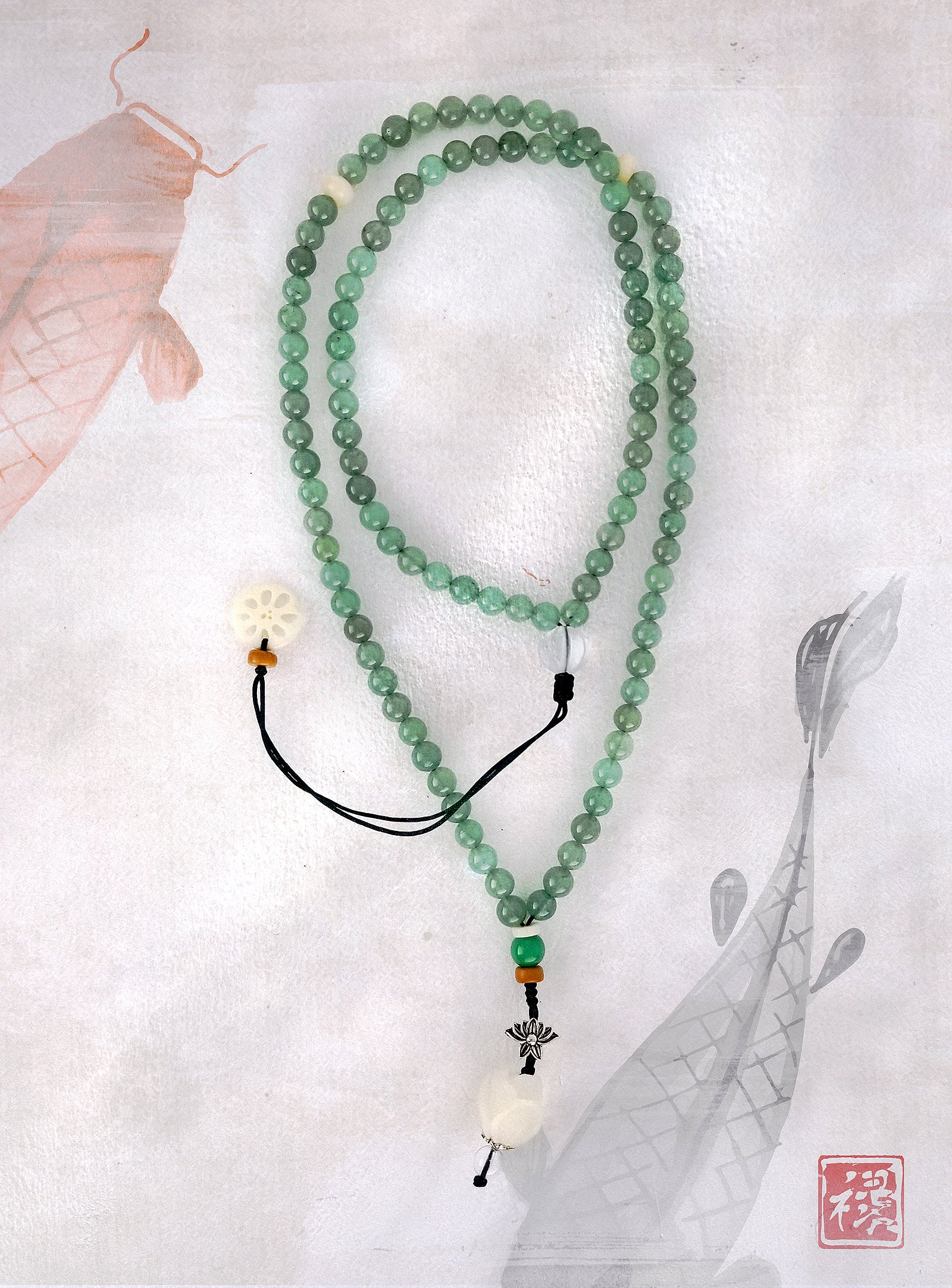 Jade Om Mala Necklace
