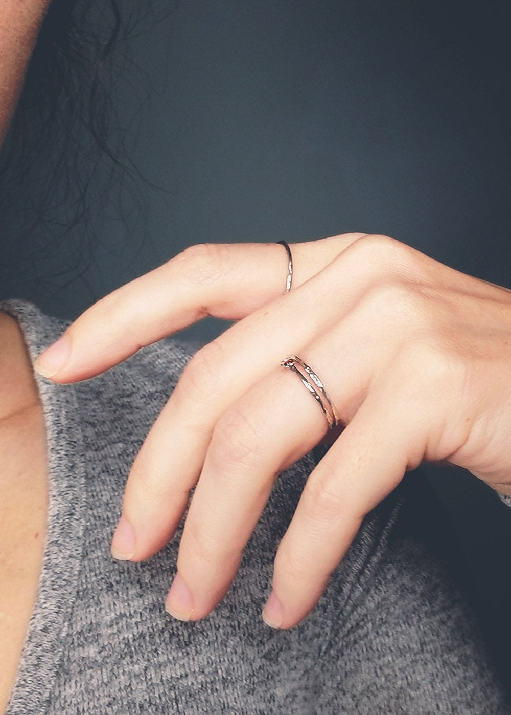 Micro Vintage Stacking Ring