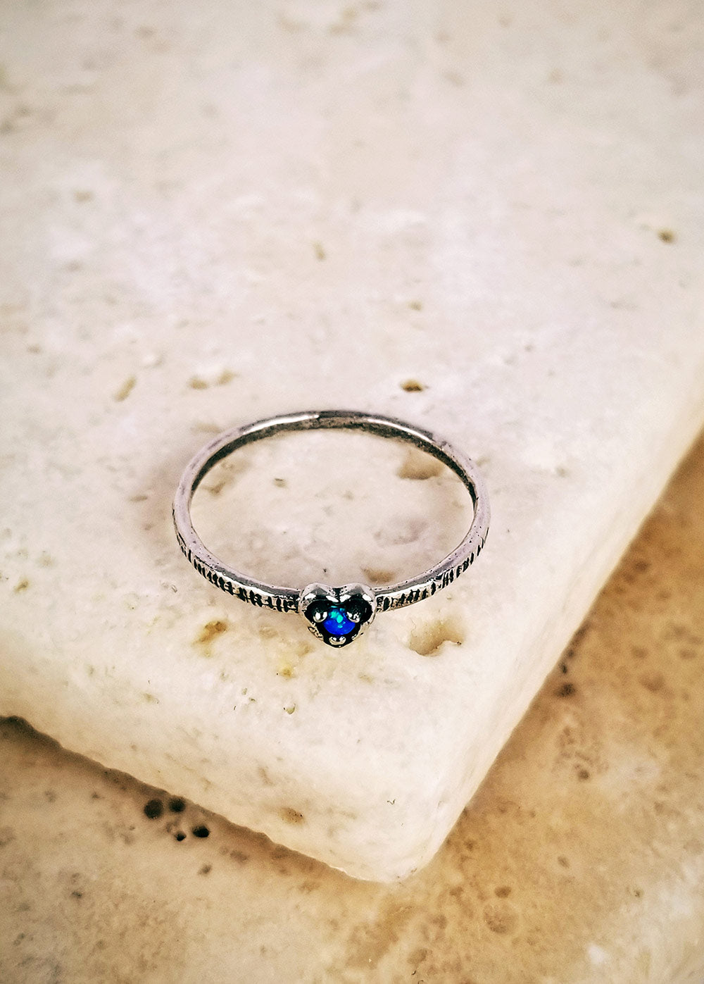Midnight Lover's Ocean Ring