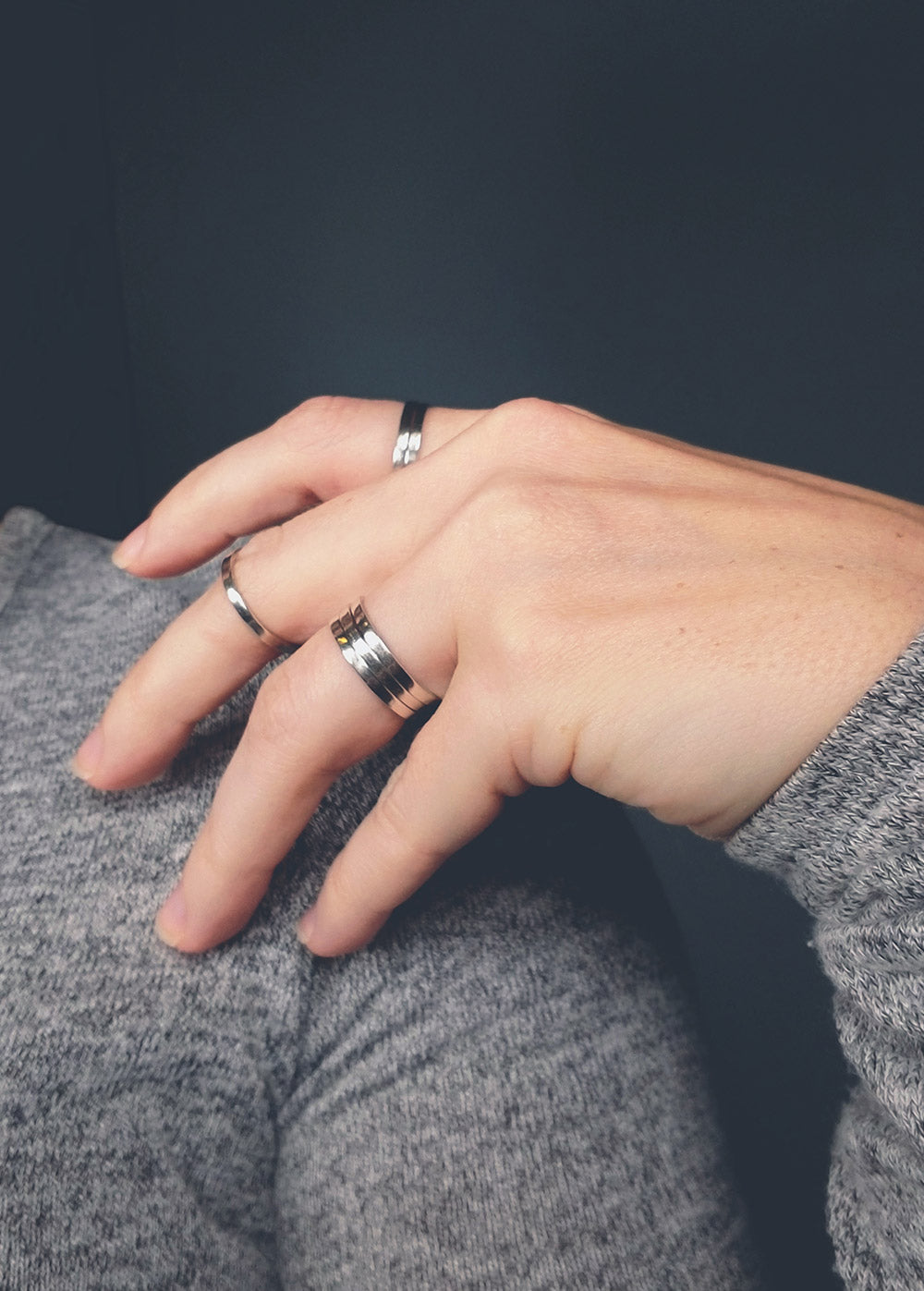 Simple Sterling Silver Stacking Rings