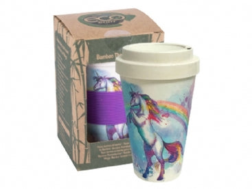 Unicorn Bamboo Travel Mug