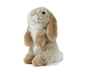 Living Nature Brown Sitting Lop Eared Rabbit - 19cm