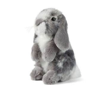 Living Nature Grey Sitting Lop Eared Rabbit - 19cm