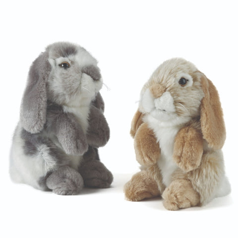 Sitting Lop Eared Rabbits 2 Assorted - 19cm