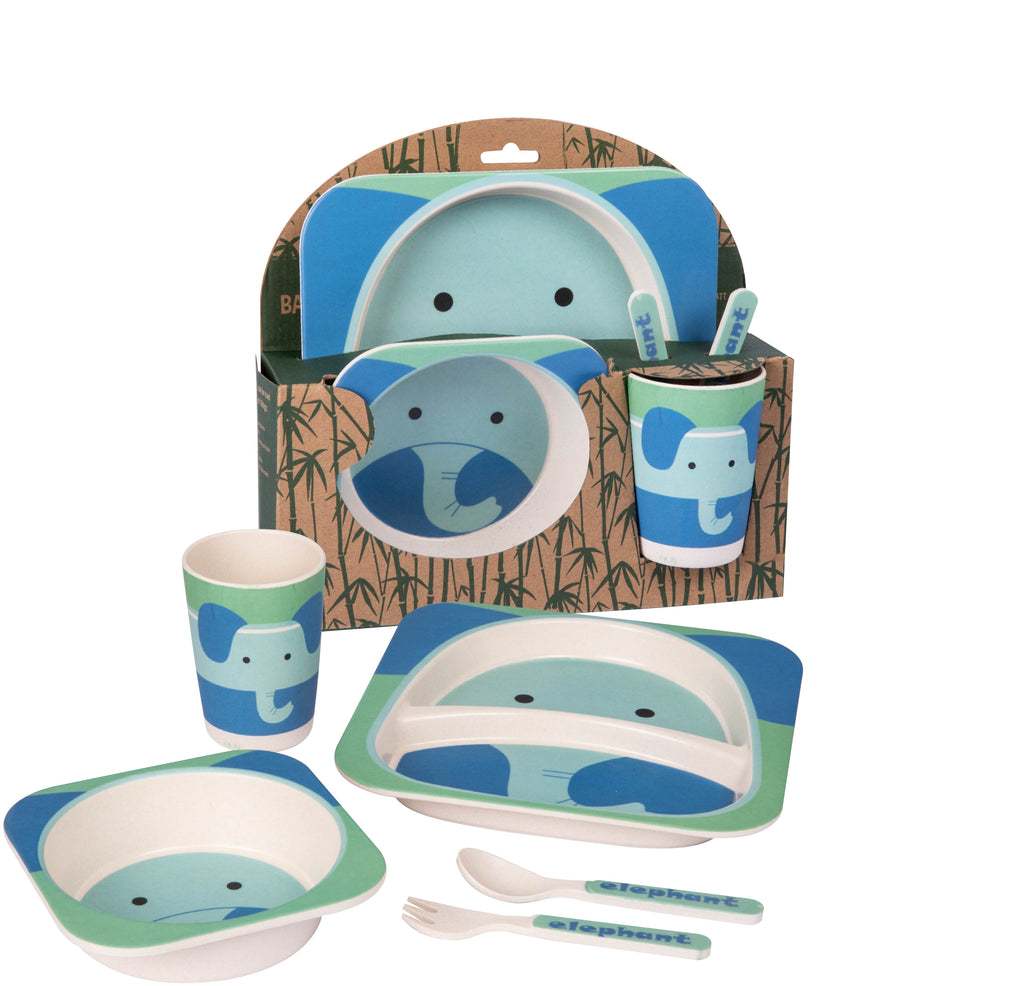 Elephant Bamboo Dinner Set