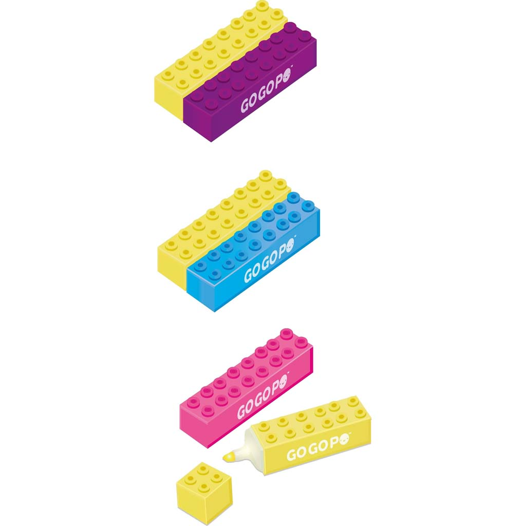 GoGoPo Building Blocks Highlighter 2pk