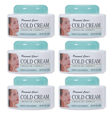 Cold Facial Cream Daily Face Wash Cleanser Makeup Remover Soft Smooth Skin (6-Pack)
