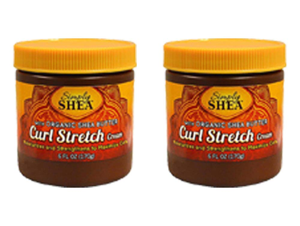 Organic Shea Butter Curl Stretch Hair Cream Argan Oil Virgin Olive 6oz (2 Pack)