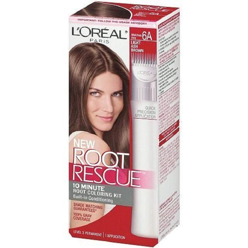 L'Oreal Paris Root Rescue Coloring Kit 6A Light Ash Brown (2 pack)