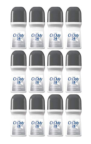 Avon On Duty 24 Hours Original Roll-on Anti-perspirant Deodorant 2.6 oz (12-Pack)