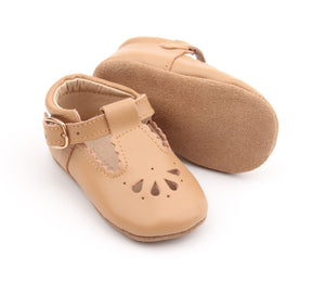 Petal Tbar Soft Sole - Tan