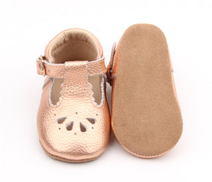 Petal Tbar Soft Sole - Rose Gold