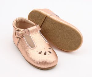 Petal Tbar Hard Sole - Rose Gold