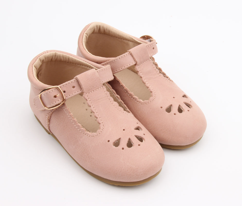 Petal Tbar Hard Sole - Pale Pink