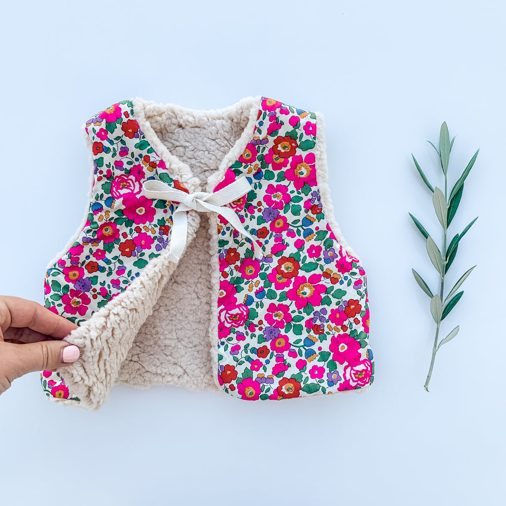 The Liberty Baby Gilet  - Betsy Magenta