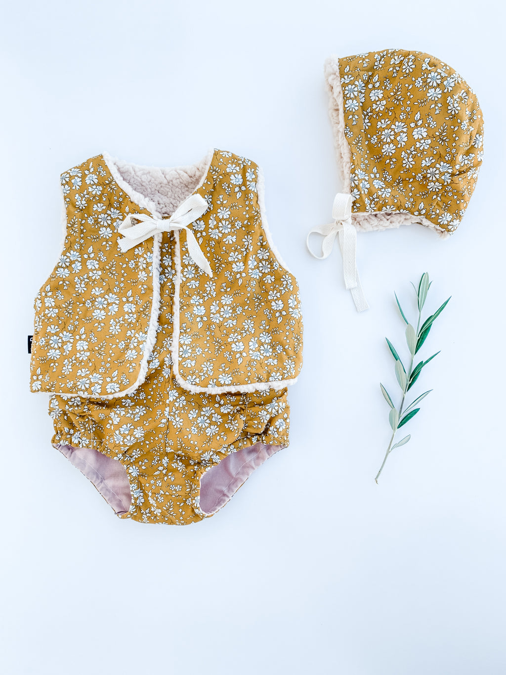 The Liberty Baby Bonnet  - Capel Mustard