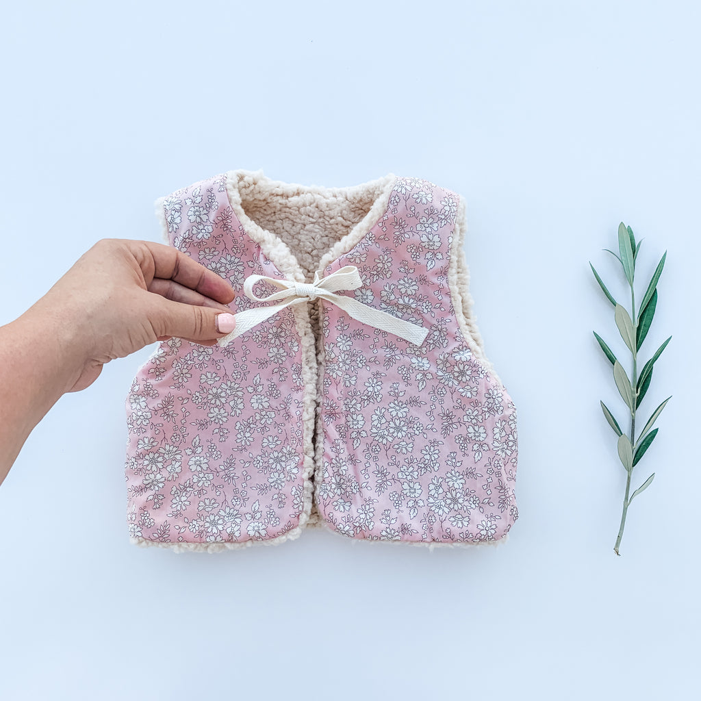 The Liberty Baby Gilet  - Capel Pale Pink