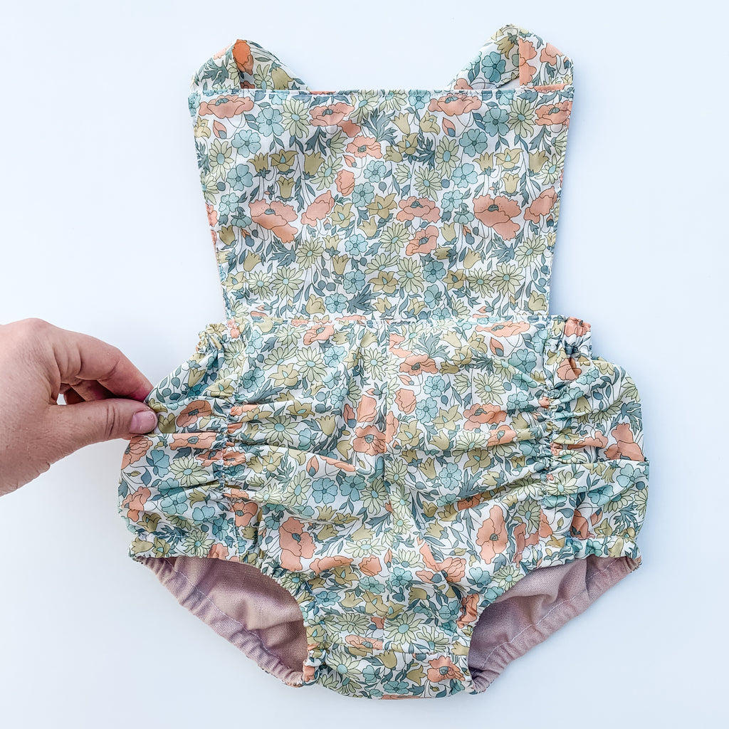 The Liberty Vintage Romper - 'Poppy and Daisy' Vintage