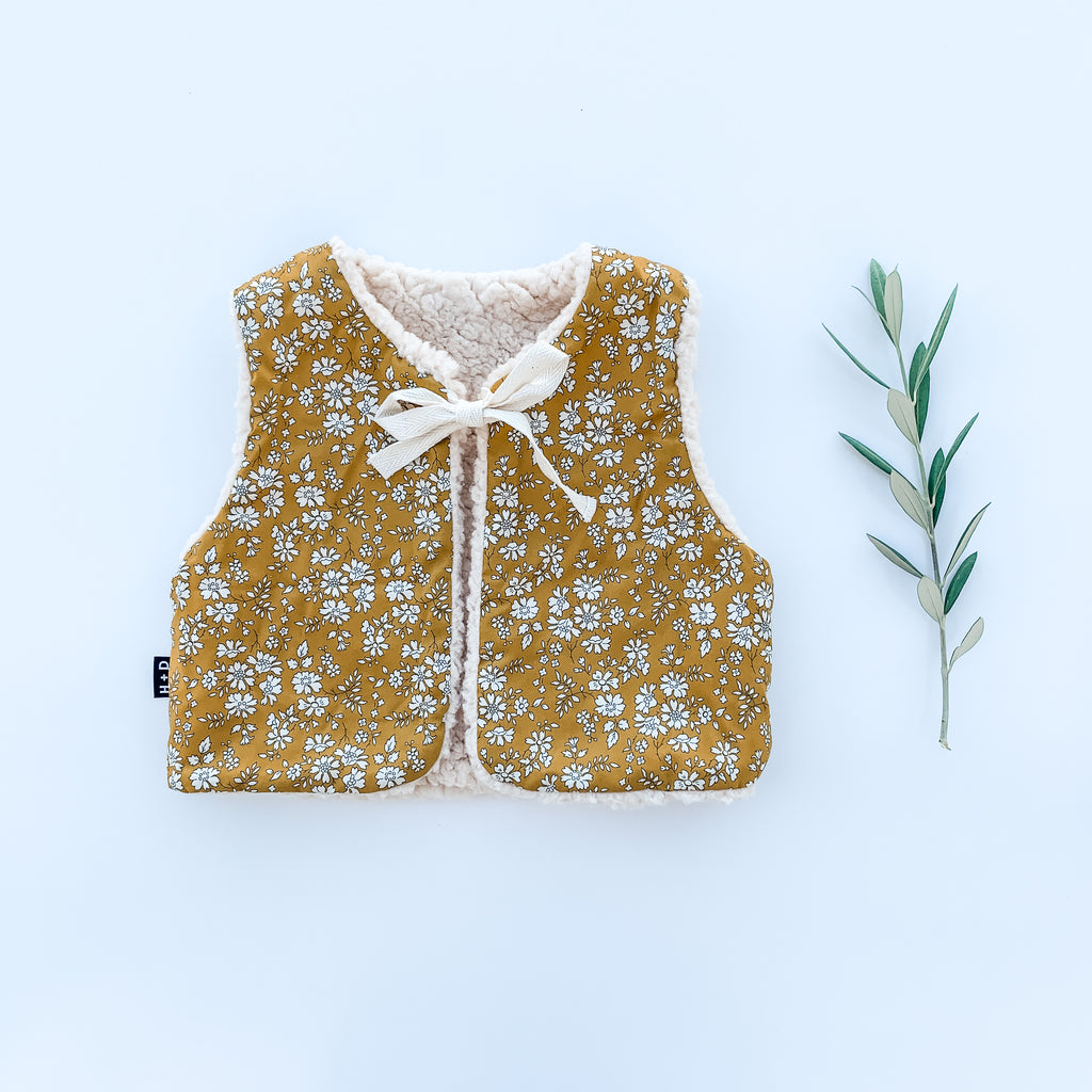 The Liberty Baby Gilet  - Capel Mustard