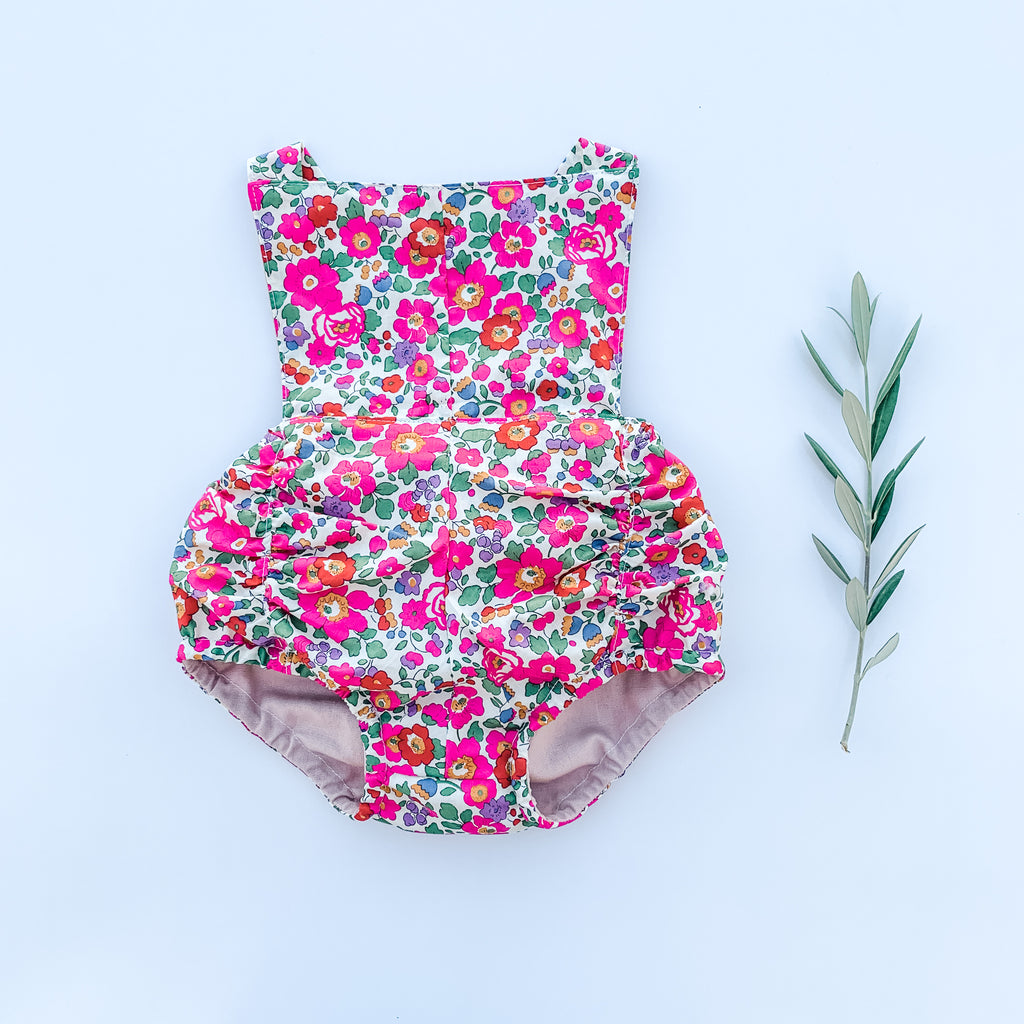 The Liberty Vintage Romper - Betsy Magenta