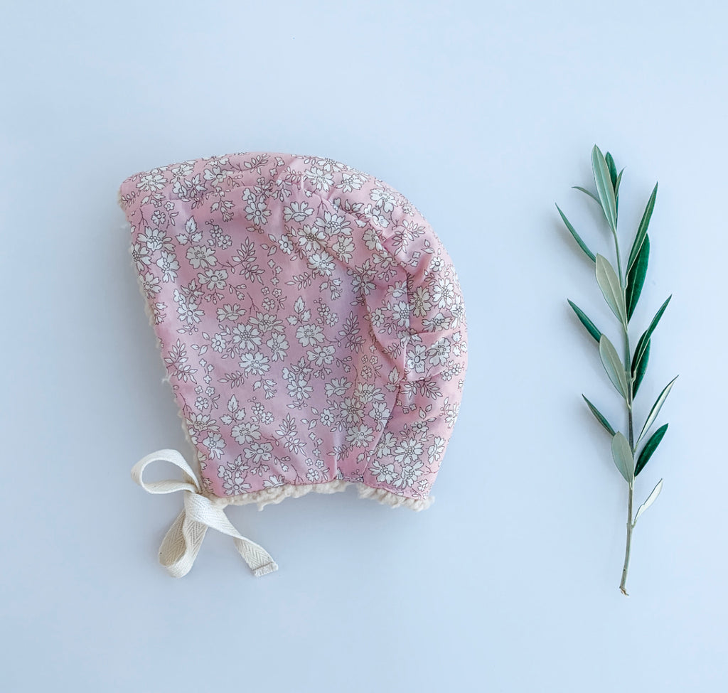 The Liberty Baby Bonnet  - Capel Pale Pink