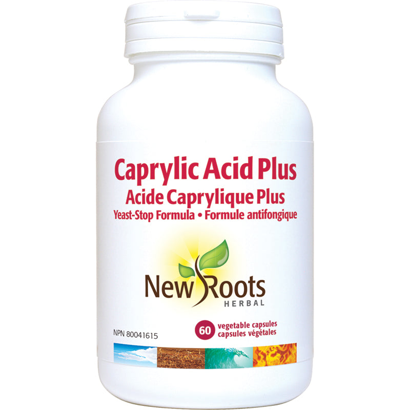 New Roots Caprylic Acid Plus 785mg 60 Vegetarian Capsules