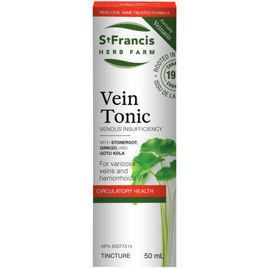 St. Francis Vein Tonic Tincture 50ml (Formerly Veinasis)