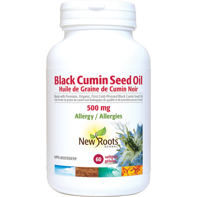 New Roots Herbal Black Cumin Seed Oil 500mg 60 Softgels