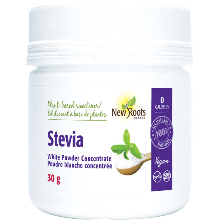 New Roots Stevia White Powder Concentrate 30g