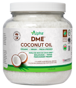 Alpha DME Virgin Coconut Oil Org Glass 1.75L