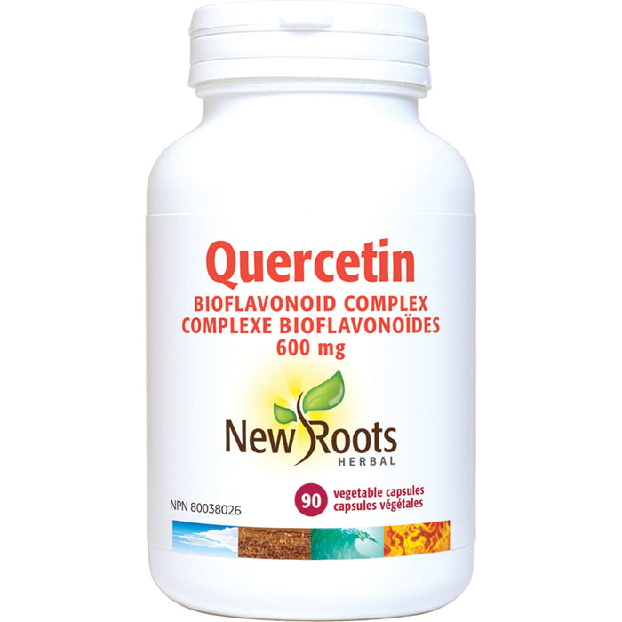 New Roots Quercetin 98% Bioflavonoid 600mg 90 Vegetarian Capsules