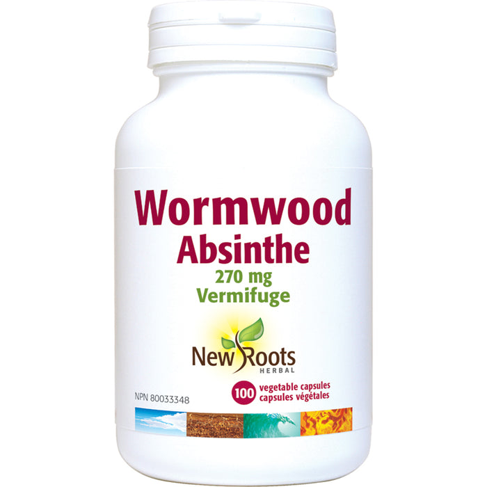 New Roots Wormwood 270mg 100 Vegetarian Capsules