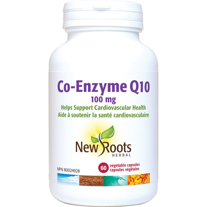 New Roots Co-Enzyme Q10 100mg 60 Vegetarian Capsules