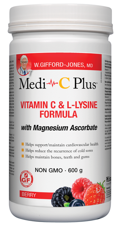 W. Gifford-Jones Medi-C Plus w/ Magnesium Berry Flavour 600g