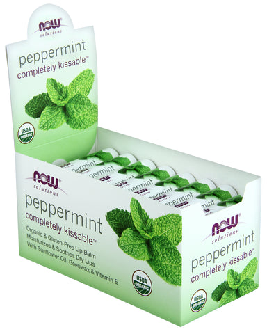 Now Peppermint Organic Lip Balm 4.25g