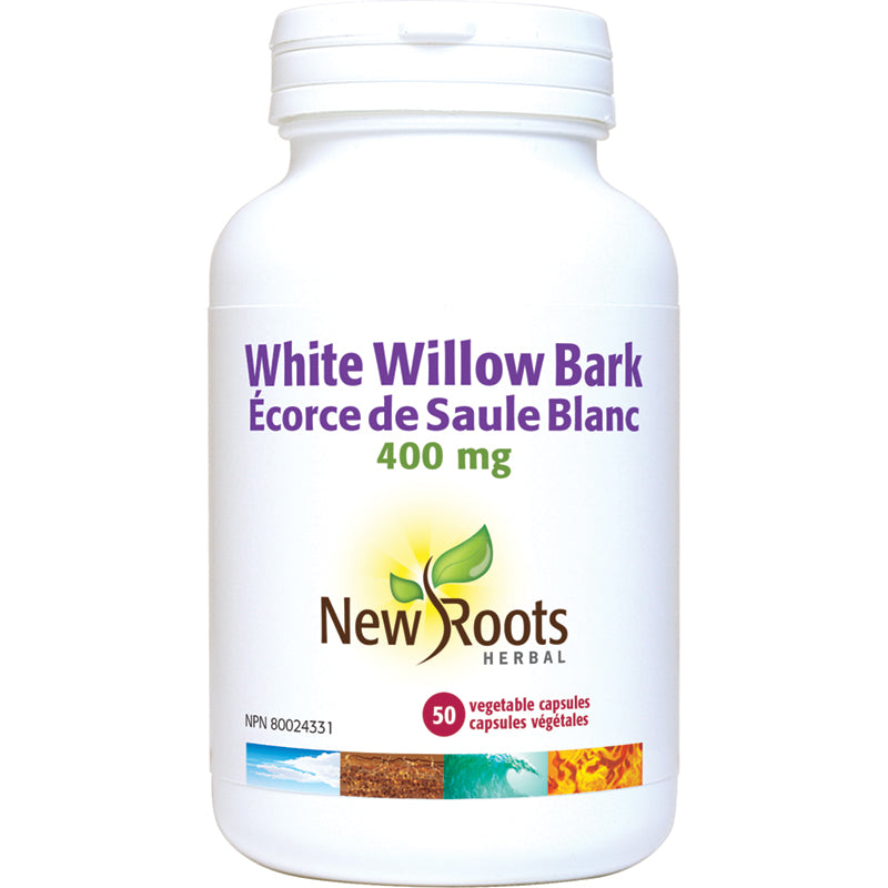 New Roots White Willow Bark 400mg 50 Vegetarian Capsules