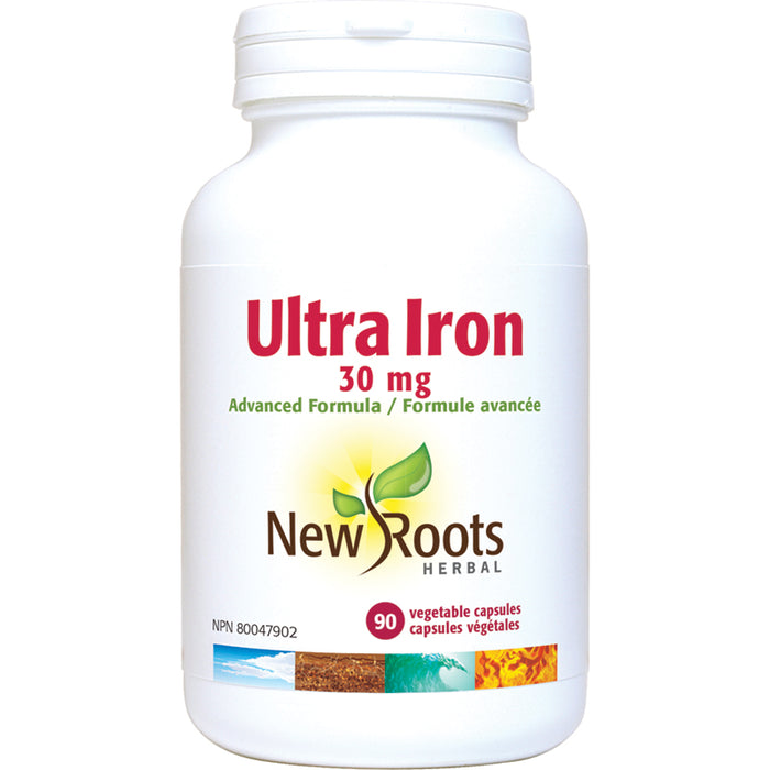 New Roots Iron Ultra 30mg 90 Vegetarian Capsules