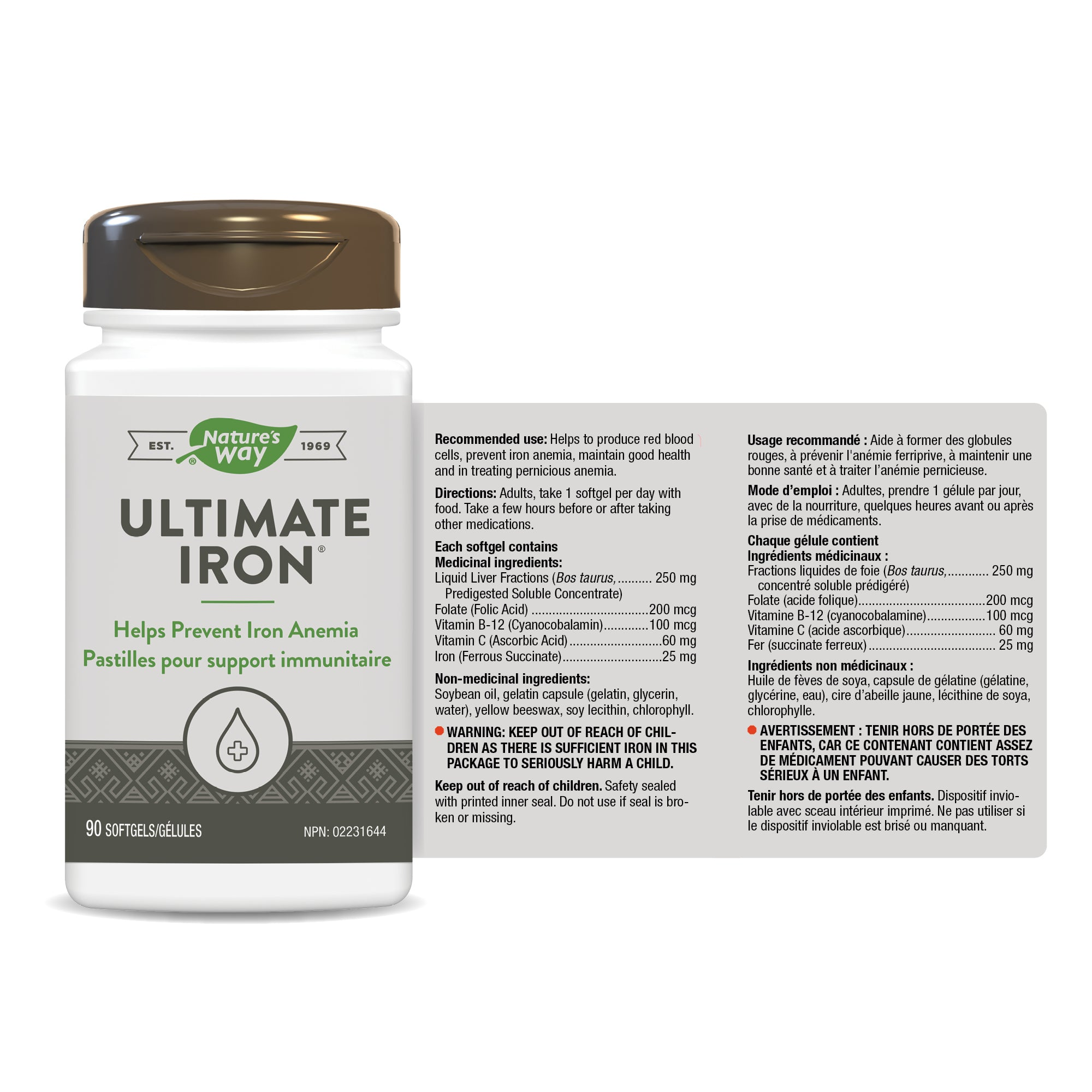 Nature's Way Ultimate Iron Complex 90 Softgels