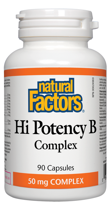 Natural Factors Hi Potency B Complex 60 Capsules 50mg Complex
