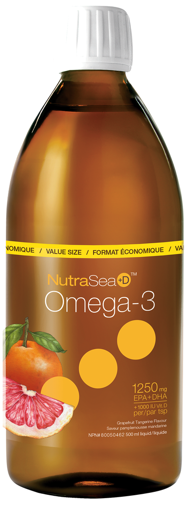 Nutrasea HP + D Omega-3 Grapefruit Tangerine 500ml