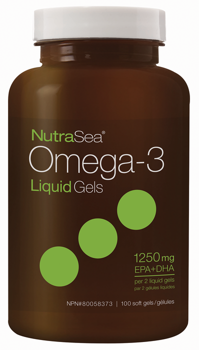 Nutrasea Omega-3 Liquid Gels 100 Softgels