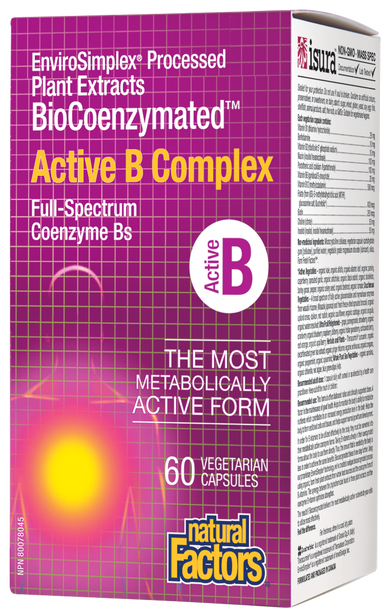Natural Factors BioCoenzymated Active B Complex 60 Vegetarian Capsules