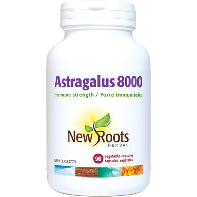 New Roots Astragalus 8000 500mg 90 Vegetarian Capsules
