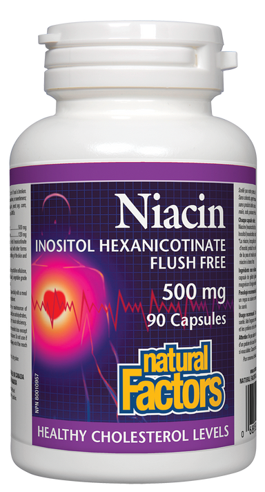 Natural Factors Niacin Flush Free 500mg 90 Capsules