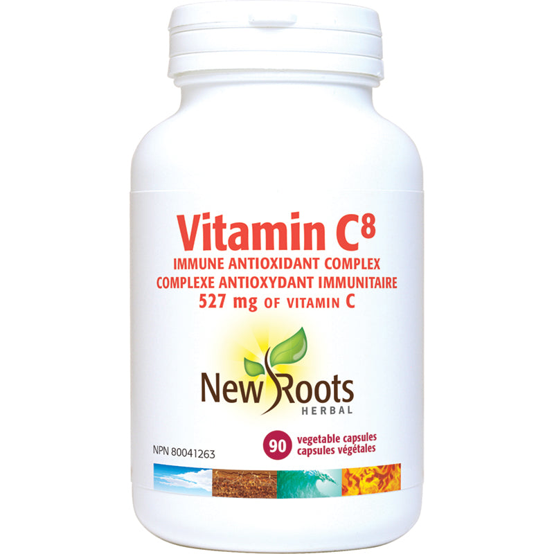 New Roots Vitamin C8 90 Vegetarian Capsules
