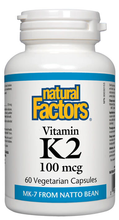 Natural Factors Vitamin K2 100mcg 60 Vegetarian Capsules