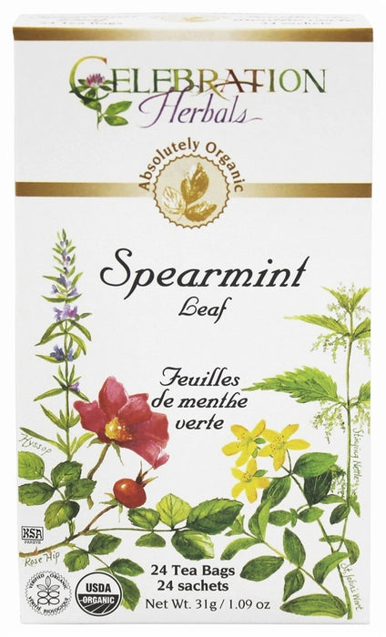 Celebration Herbal Spearmint Leaf Organic 24 Tea Bags