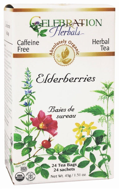 Celebration Herbals Elderberries Organic 24 Tea Bags