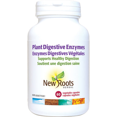 New Roots Plant Digestive Enzymes 60 Vegetarian Capsules