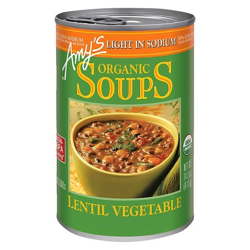 Amy's Lentil Vegetable, Low Sodium 398ml